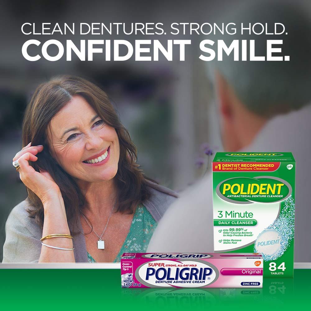 Super Poligrip Original Formula Zinc Free Denture Adhesive Cream, 2.4 ounce (Pack of 2) by Super Poli-Grip (Image #8)