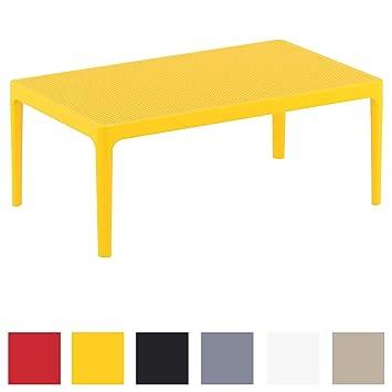 CLP Table Lounge Sky - Table de Jardin Résistante aux Intempéries et aux  Rayons UV - Table de Jardin en Plastique - Couleur au Choix : Jaune