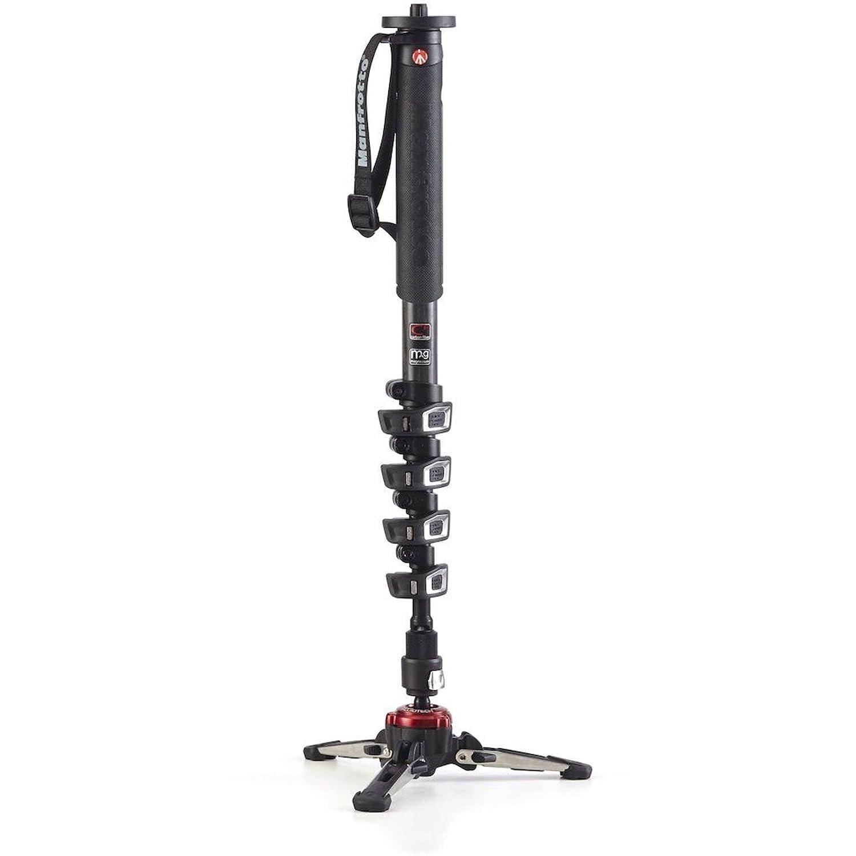 nero monopiede per videocamera con 5 sezioni in fibra di carbonio Manfrotto Xpro