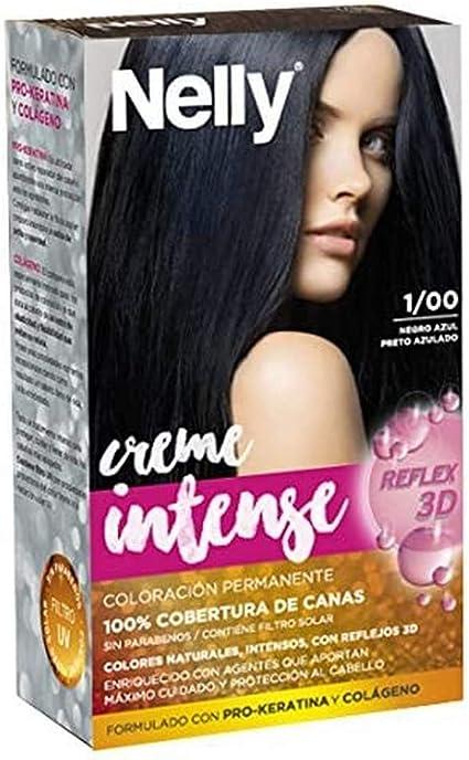 Nelly Set Tinte 1/00 Negro Azul - 50 ml: Amazon.es: Belleza