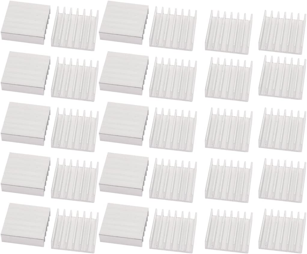 Aexit 30pcs 20mmx20mmx6mm Garage /& Shop Aluminum Heatsink Heat Diffuse Power Converters Cooling Fin