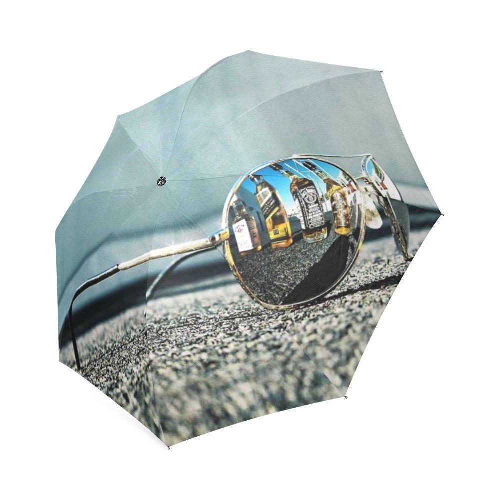 カスタマイズUniqueサングラス折りたたみ雨傘/パラソル/太陽傘 B076F5LC64