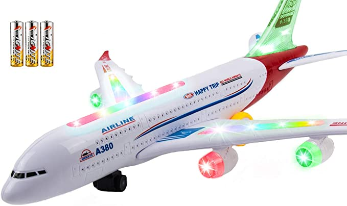 Kid Plastic Plane Toy Kid Diecast Pull back Airbus A380 Boeing 777 toy gift newF