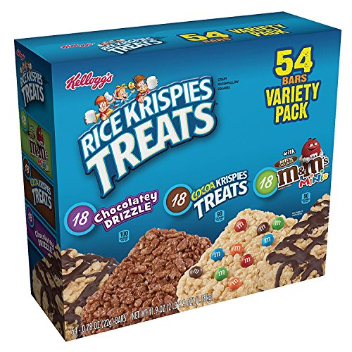 Kellogg Rice Krispies Treats Variety Pack, 54