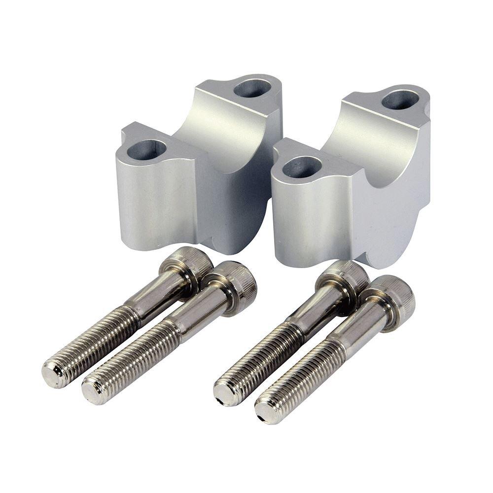 Aluminio CNC elevador de manillar abrazaderas para 28, 3 mm Bares Quad Motocicleta 3mm Bares Quad Motocicleta Quadmaxx