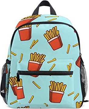 Drawstring Backpack French Fries Rucksack
