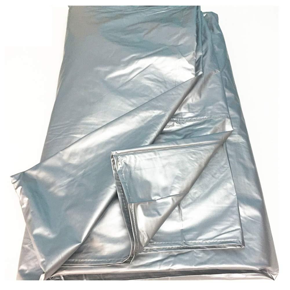 260X140CM  LHL Couverture en rougein de Jardin Couverture de Table de Billard Couverture Anti-poussière Table de ping-Pong Oxford Tissu étanche écran Solaire étanche à La Pluie Tarpaulin gris Argenté, 5 Tailles