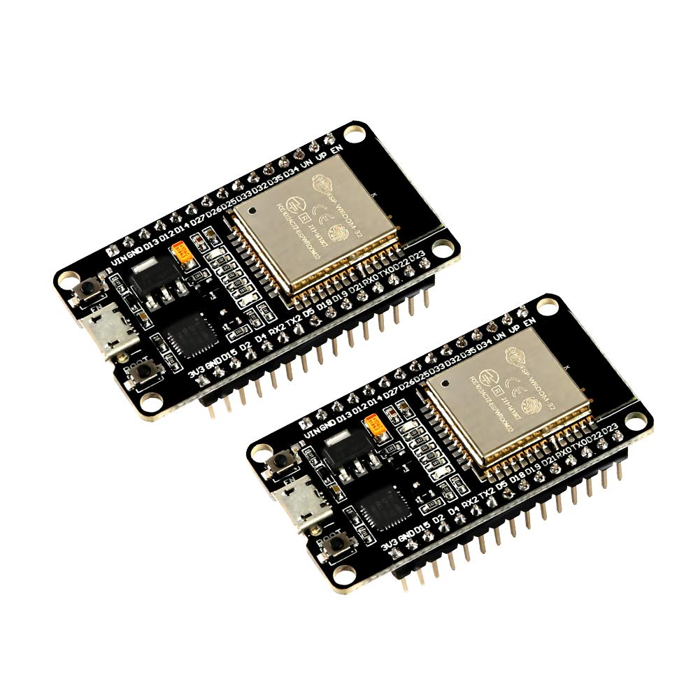 MELIFE 2 Pack ESP32 ESP-32S Development Board 2.4GHz Dual-Mode WiFi + Bluetooth Dual Cores Microcontroller Processor Integrated with ESP32s Antenna RF AMP Filter AP STA for Arduino IDE by MELIFE