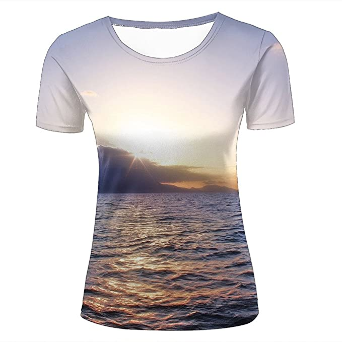6387d1a95 3D Creative Printed Mens Womens Caribbean Sunset Graphic Summer Casual  Short Sleeve Couple T Shirts Tees