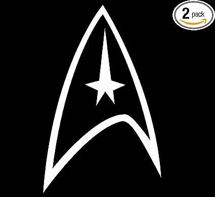 amazon com angdest star trek logo white set of 2 silhouette