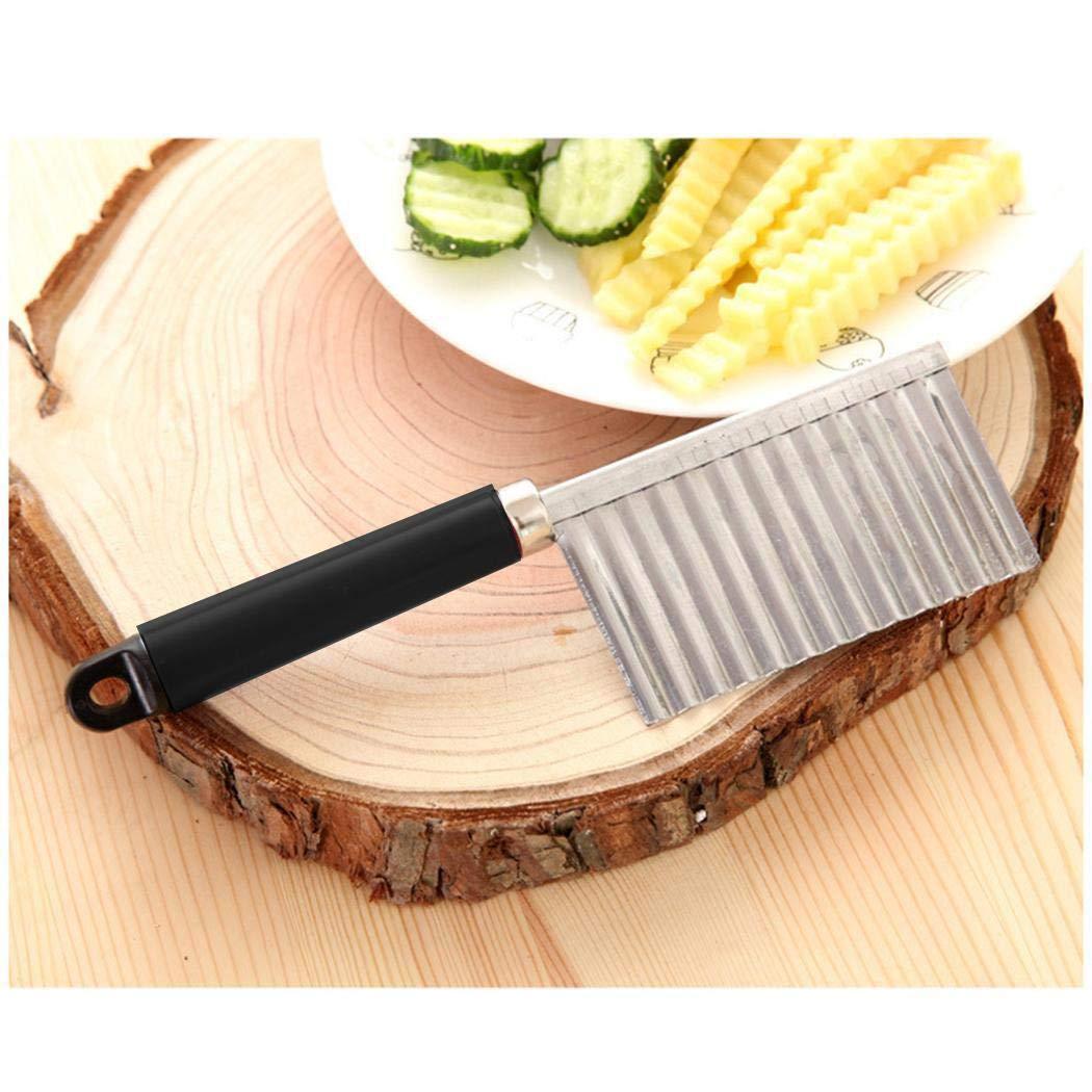 Xixini Kartoffelfaltschneider Küchenzubehör Gemüseschneidmesser Slicer 8,7 x 2,4 Zoll