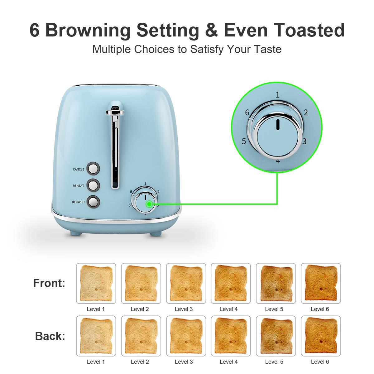 Tostapane automatico, tostapane in acciaio inox Morpilot con 2 slot automatici large, 6 modalità di tostatura - Tostapane con funzioni di sbrinamentoTostapane, vassoio raccoglibriciole rimovibile