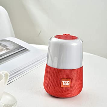 Smart LED Flash Light Bluetooth Speaker Portable Mini Outdoor Subwoofer 1200 MAh Music Box FM Radio Night Light Help Sleep, Red: Amazon.es: Electrónica