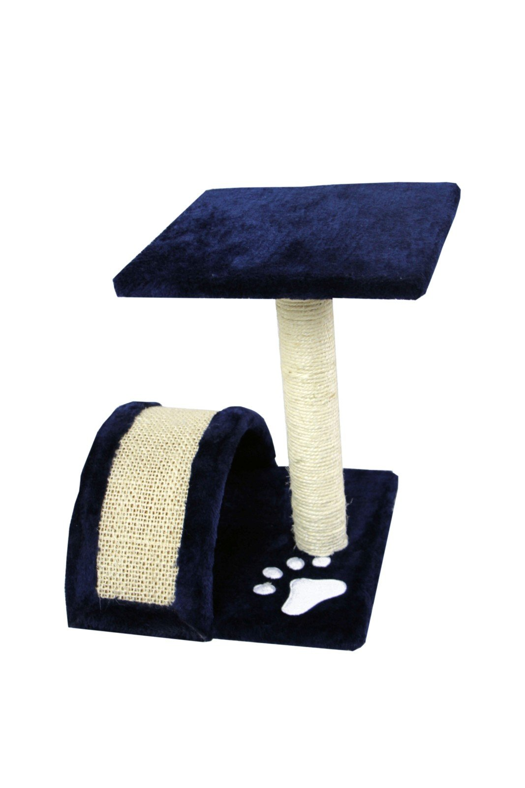 CloudWorks 15'' Small Cat Tree Sisal Scratching Post Furniture Playhouse Pet Bed Kitten Toy Cat Tower Condo for Kittens (Navy Blue) by HIDING by CloudWorks Cat (Image #4)