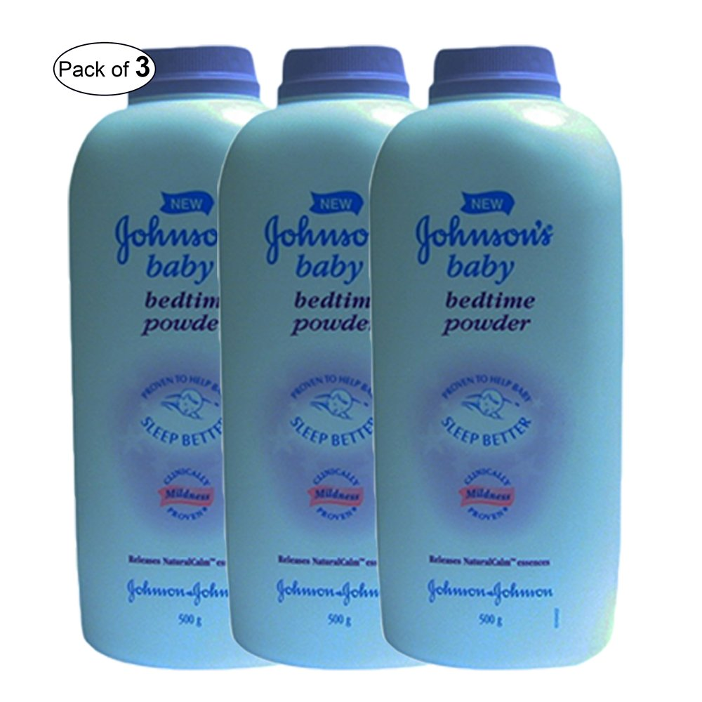 Johnson's Baby Bed Time Powder (500g) (Pack of 3) Johnson' s