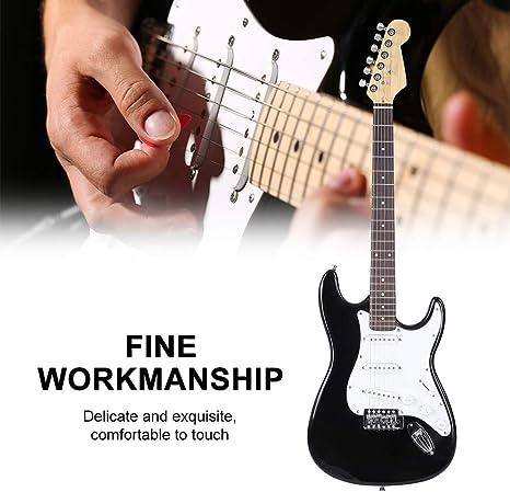 Guitarra eléctrica, 39 pulgadas tamaño completo madera maciza ...