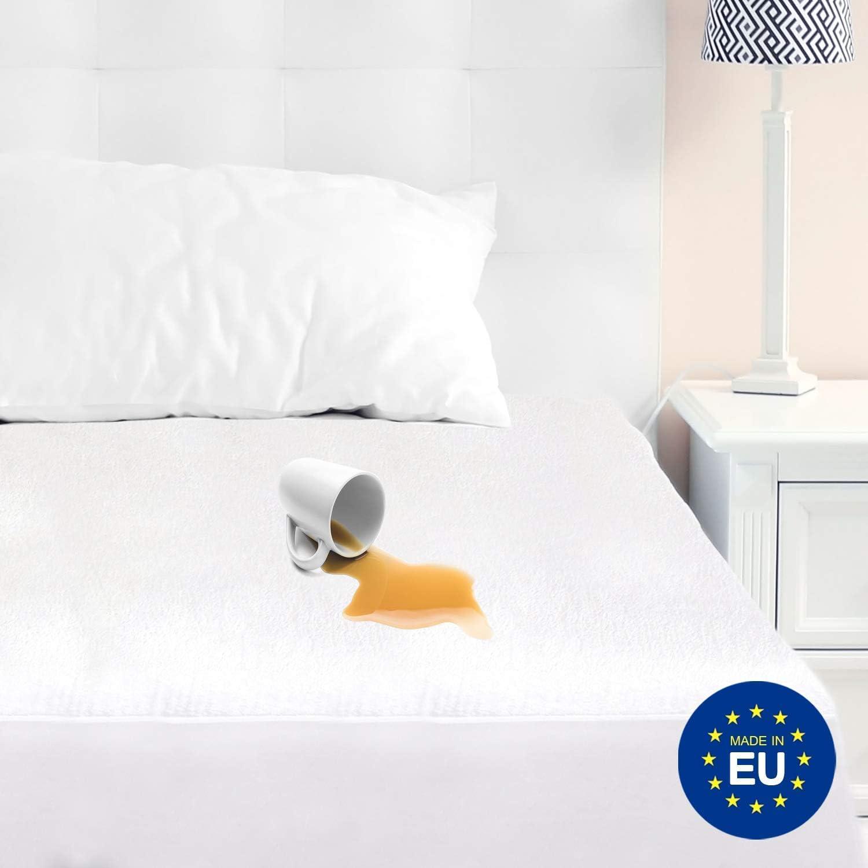Made in Europe Excellente Qualit/é Prot/ège Matelas Premium SafeDreamz 100/% Imperm/éable Traitement Nouvelle G/én/ération Bi-Ome/®: Anti-Acariens Anti-Moisissures /& Anti-Bact/érien 70 x 140 cm ZenPur