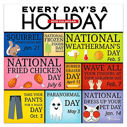 2019 Every Day's A Holiday  Wall Calendar