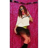 ShiDianYi 4FTX6FT-Fuchsia-SEQUIN PHOTO BACKDROP, Wedding Photo Booth,Photography Background (Fuchsia)