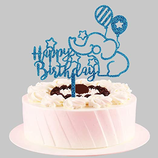 Groovy Amazon Com Happy Birthday With Blue Elephant Cake Topper Funny Personalised Birthday Cards Cominlily Jamesorg
