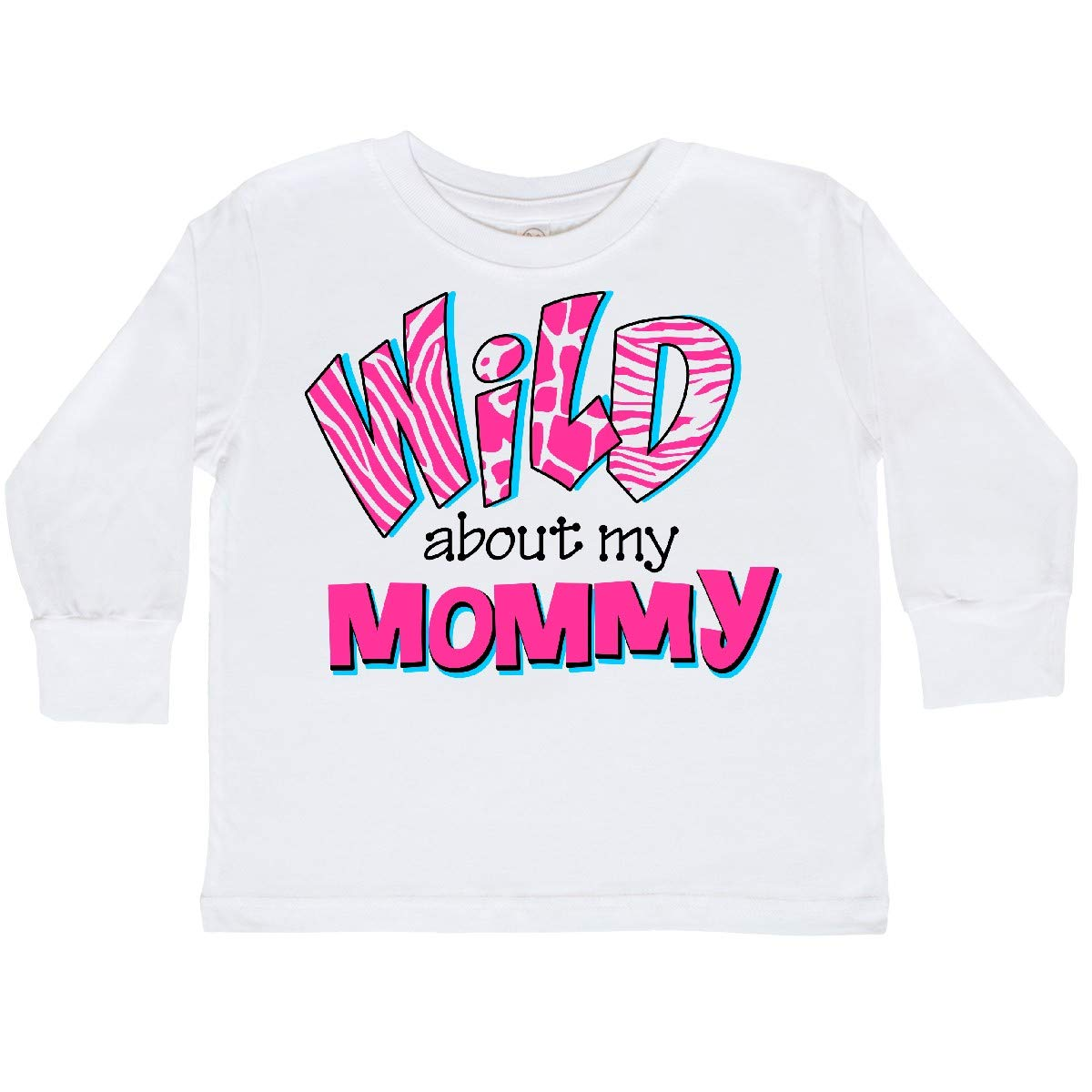 inktastic Wild About Mommy Toddler Long Sleeve T-Shirt