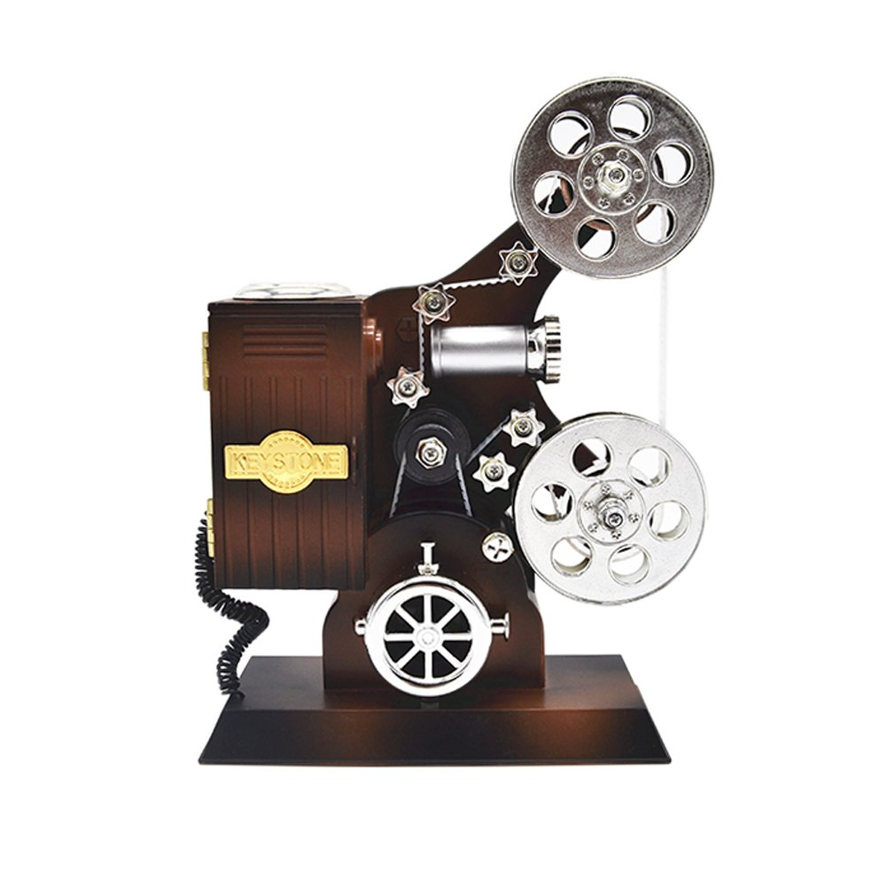 Anlydia Vintage Movie Projector Design Trinket Music Box Gift For Christmas