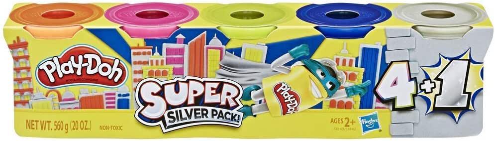 Play-Doh Súper Oro Paquete de 5 No Tóxico Colores Incluye 1 Súper ...