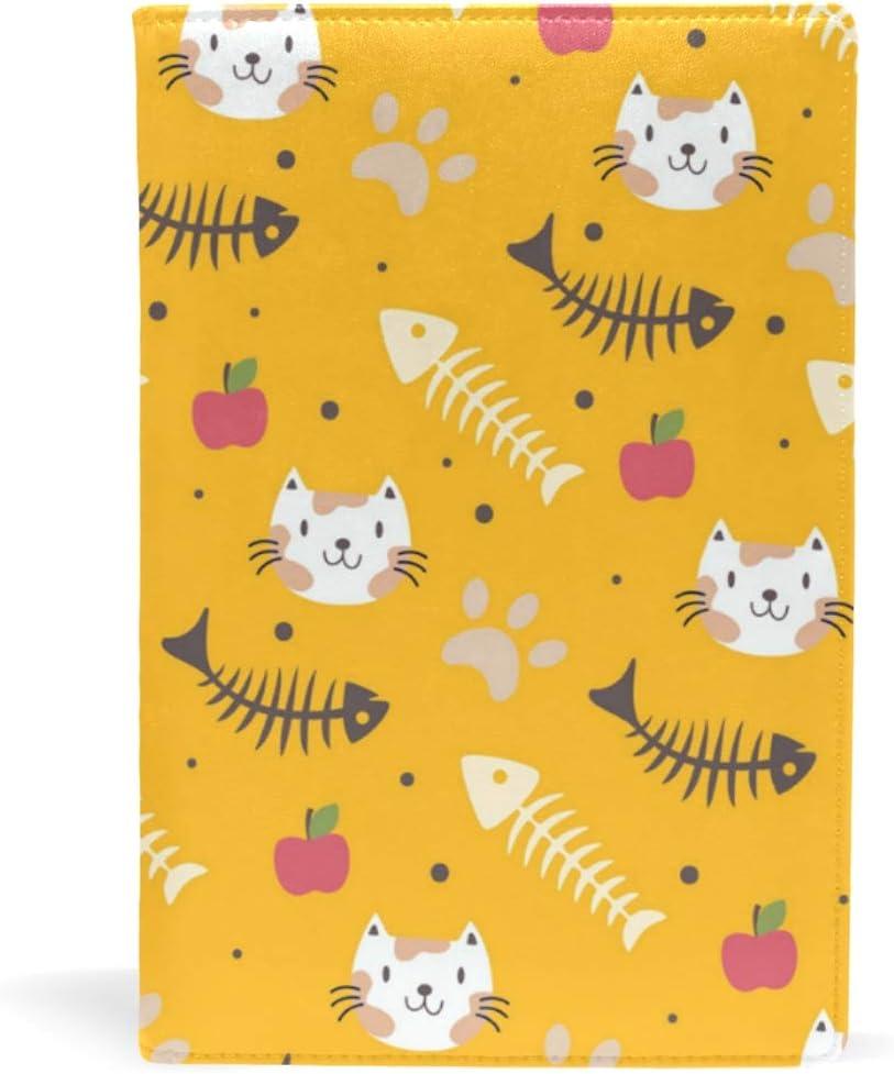 Fundas de libros A5 para libros de tapa blanda, diseño de gato, color amarillo, material educativo para la escuela, productos de oficina: Amazon.es: Oficina y papelería