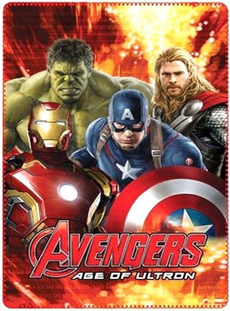 Plaid-Fleecedecke Avengers 120 x 140 cm aus 100/% Polyester.