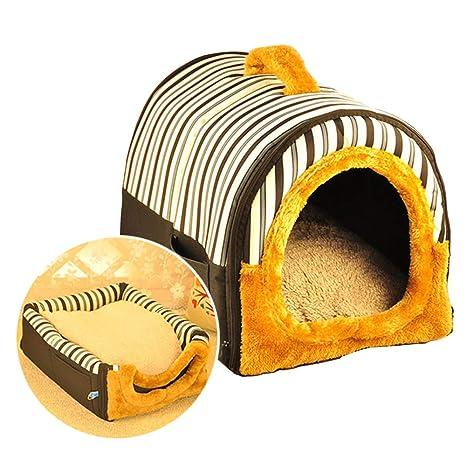 ACTNOW Casa de mascotas y sofá portátil 2 en 1 - Iglú antideslizante para perros y gatos, ...