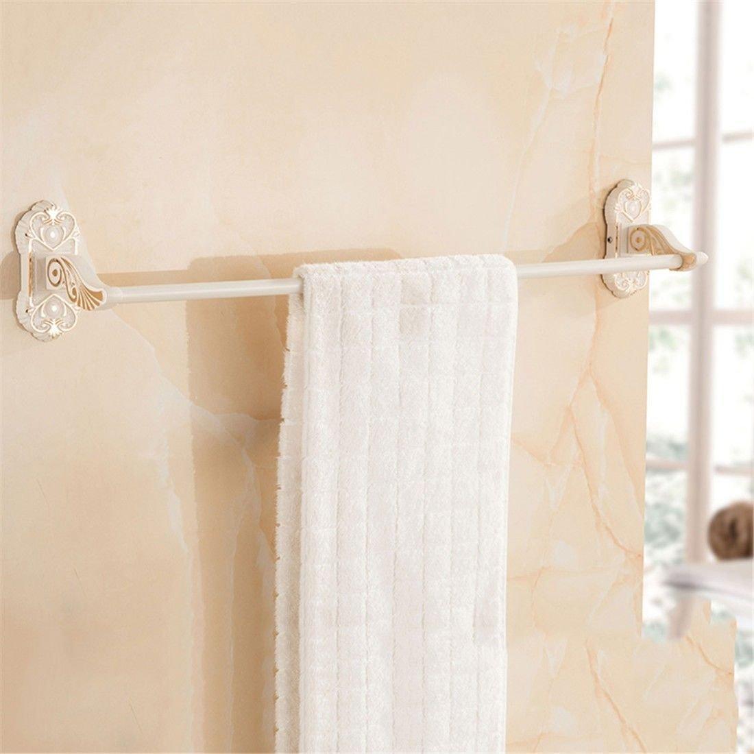 Yomiokla Bathroom Accessories - Kitchen, Toilet, Balcony and Bathroom Metal Towel Ring European Space Aluminum White Single Lever Double Lever Part 1