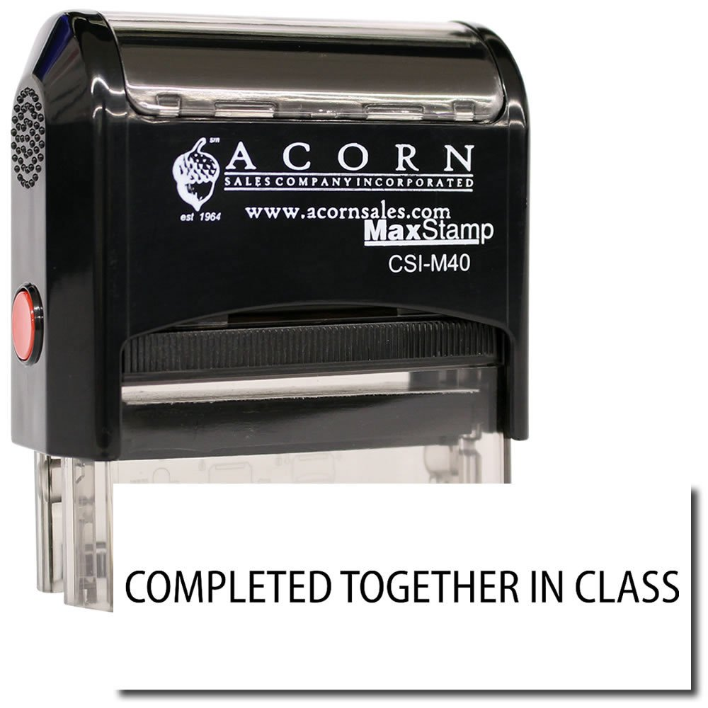 MaxStamp - Self-Inking Completed Together In Class Stamp (Blue Ink)