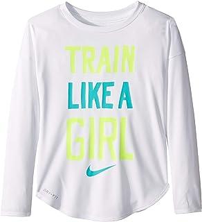 5740d7ba Amazon.com: Nike Kids Womens Interstellar Swoosh Long Sleeve Tee ...