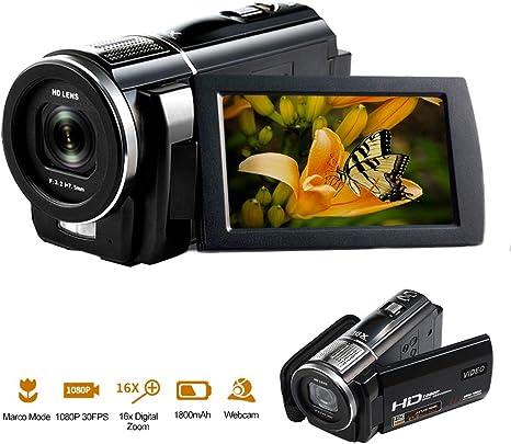 Videocámara Full HD 1080P 30FPS 24.0MP Cámara de Video Enfoque ...