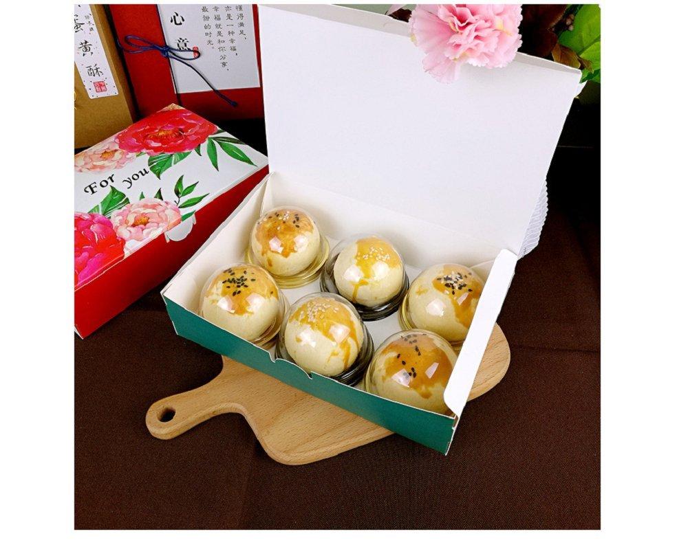 Hewnda 50 Pieces 2 Of Transparent Plastic Mini Cake Box Muffins Box