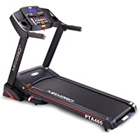 """MAXPRO PTA460 2.5HP (5 HP Peak) Motorized Folding Treadmill with Auto Incline, Auto Lubrication Fitness Machine with 5""""Blue Backlight LCD Display for Home Cardio Fitness"""