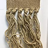 Style 391 Cotton Knotted Carpet Fringe (20 feet, 391 Beige)