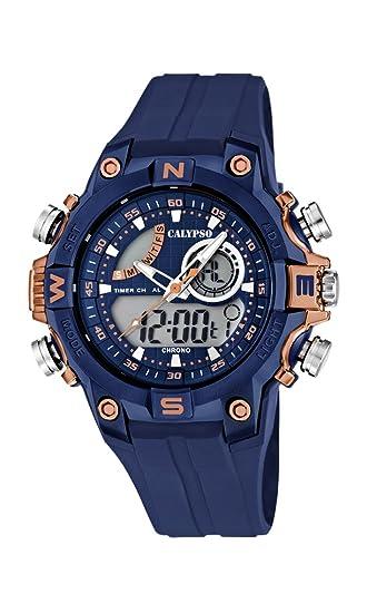 Calypso Reloj Analogico-Digital para Hombre de Cuarzo con Correa en Plástico K5586/5