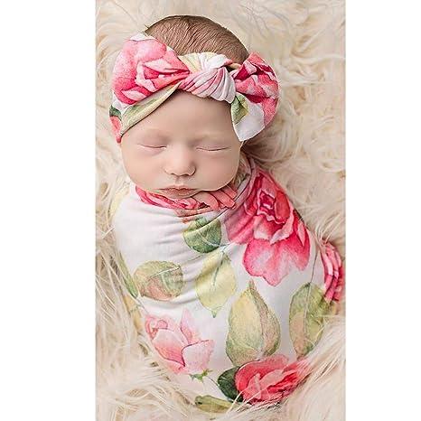 Manta para bebé recién nacido, manta suave para dormir con diadema ...