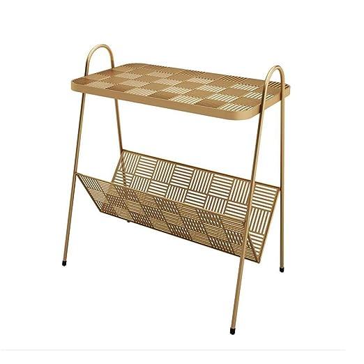 Folding table Nan Mesa Auxiliar de Arte de Hierro Dorado, Mesa ...