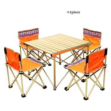 Liudan-Mesas Mesa y sillas Plegables de Playa para Acampar ...