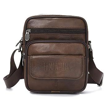 f1136957131 Sacoche pour homme en cuir véritbale taille unique Brown-038  Amazon ...