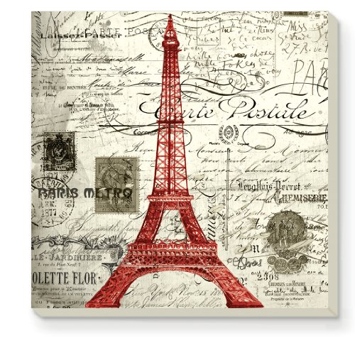 CounterArt Decorative Absorbent Coasters, Vintage Paris, Set of 4
