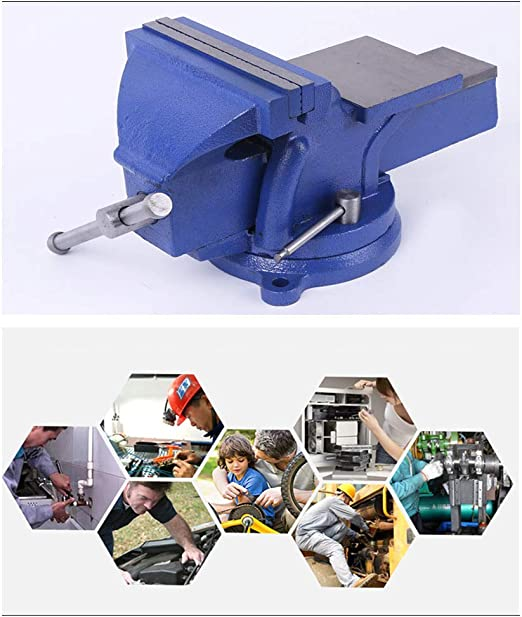 escultura Tornillo de banco de 5Base giratoria de bloqueo giratorio de 360 /° Abrazadera superior de mesa de servicio pesado con yunque para carpinter/ía manualidades
