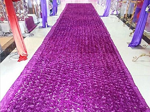[Muzata Area Rugs Wedding 3d Rose Aisle Carpet Runner Tablecloth Purple 6.6ft Long 3.6Ft Wide] (Making Elf Costume)