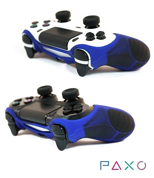34 opinioni per 2x PAXO Silicone Case Custodia Protettiva blu nero per PS4 + 4 Controller