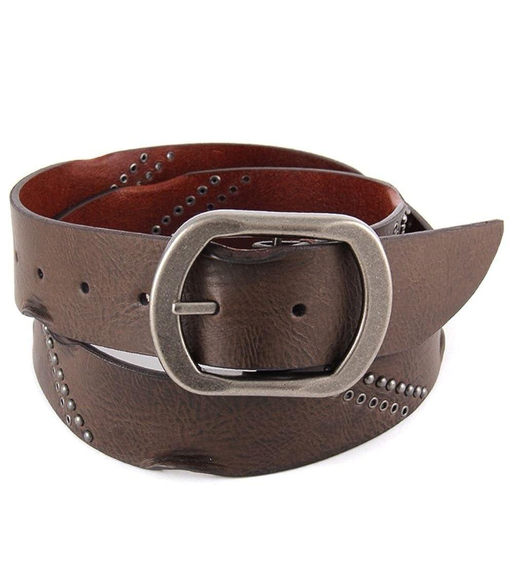 Studded Vintage Leather Belt