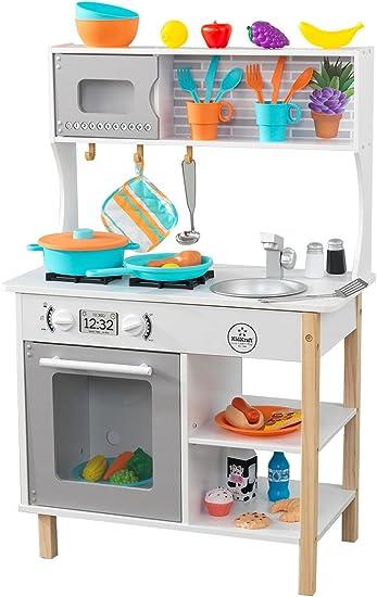 Kidkraft 53370 All Time Cucina Giocattolo In Legno Con Accessori Inclusi Per Bambini Amazon It Giochi E Giocattoli