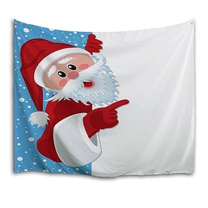 . QiyI Home Wall Hanging Nature Art Fabric Tapestry Christmas Dorm  Room Bedroom Decorations 60 L x 40  W 153cmx102cm  Naughty Christmas Snowman