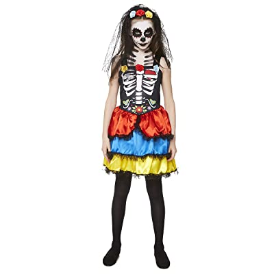 Day of the Dead Costume for Girls: Clothing